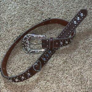 Accessories - Blazin Roxx brown belt